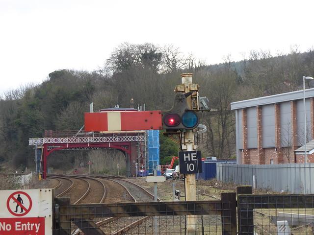 Semaphore signal at Hexham (23/1/20)