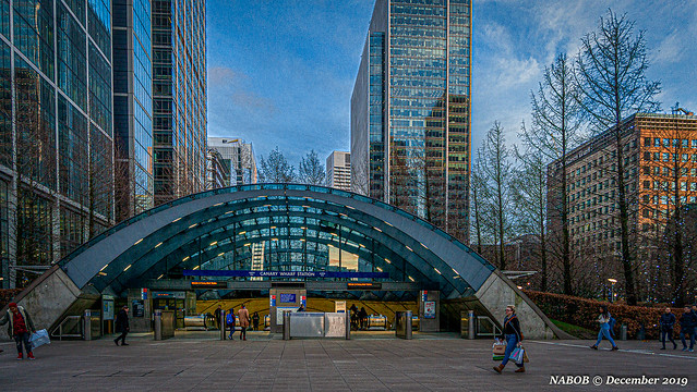 London, United Kingdom: Canary Wharf Underground station