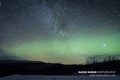 Aurora borealis over Finnish Lapland - Jan 1, 2020