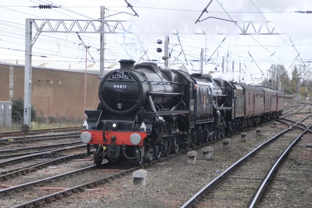 44871 + 45407 'Lancashire Fusilier' @ Carlisle