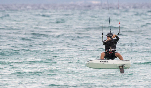 Pro Foil Kiters in session - La Ventana, Baja California Sur, Mexico