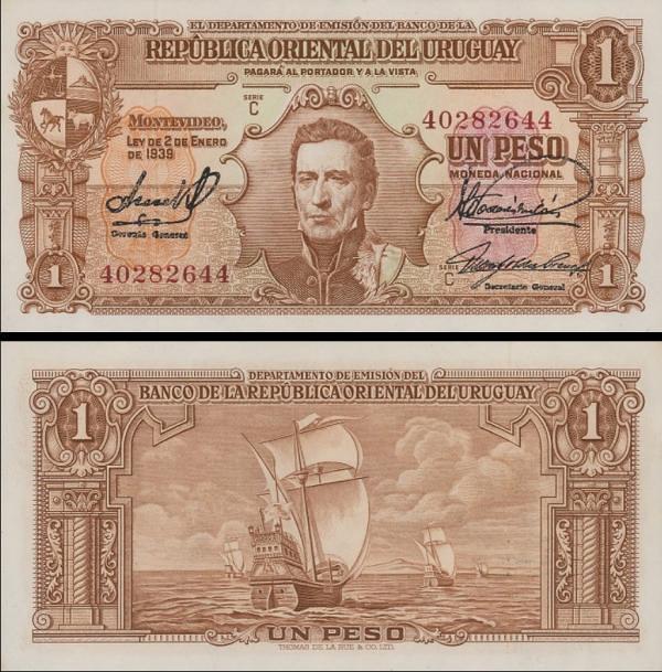 1 Peso Uruguay 1939, P35