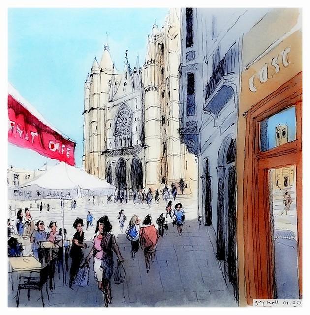 Leon - España - la catedral