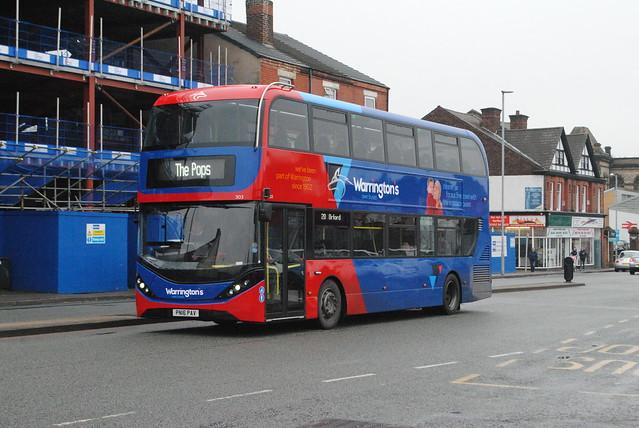 Warrington's Own Buses 303 PN16PAV (SN16OVA)