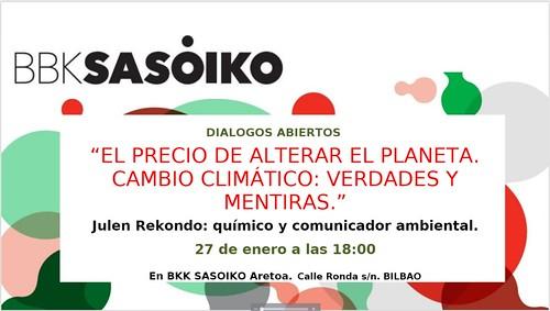 BBKsasoiko Diálogo Abierto sobre Cambio Climático con Julen Rekondo