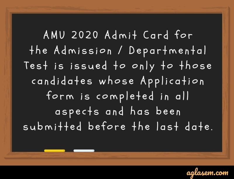 AMU 2020 form status