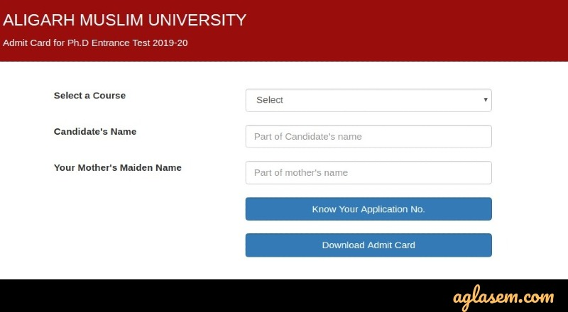 AMU entrance exam login