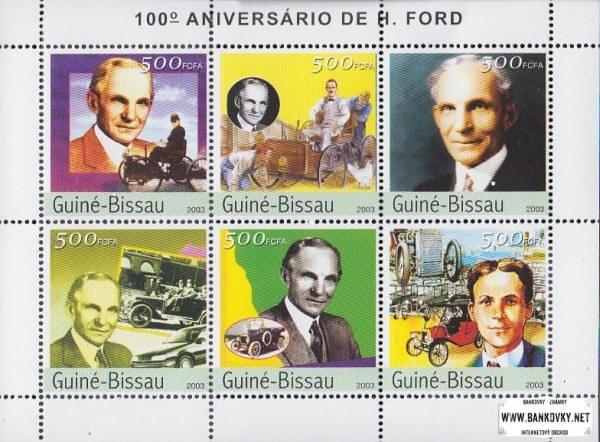 Známky Guinea Bissau 2003 Henry Ford