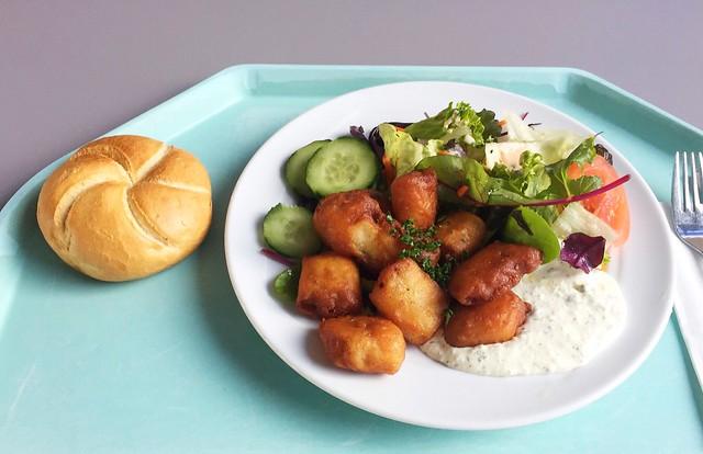 Baked kibbeling with remoulade & wild herb salad  / Gebackene Kibberlinge mit Remoulade & Wildkräutersalat