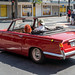 Red Triumph Convertible, George St., Dunedin, New Zealand 3.45 PM Fri. 24 Jan. 2020 (Photo by Mark McGuire)