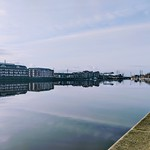 Calm scene at Preston Docks