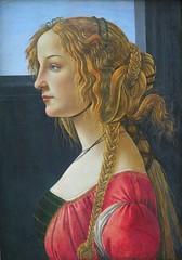 Portrait d'une jeune femme de profil (1460-1465), Sandro Botticelli - Gemäldegalerie, Berlin