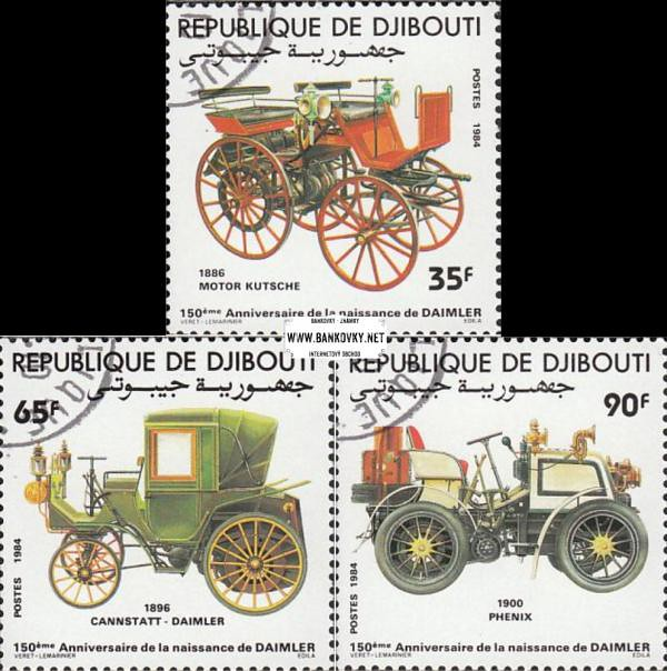 Známky Džibuti 1984 Autá Gottlieb Daimler