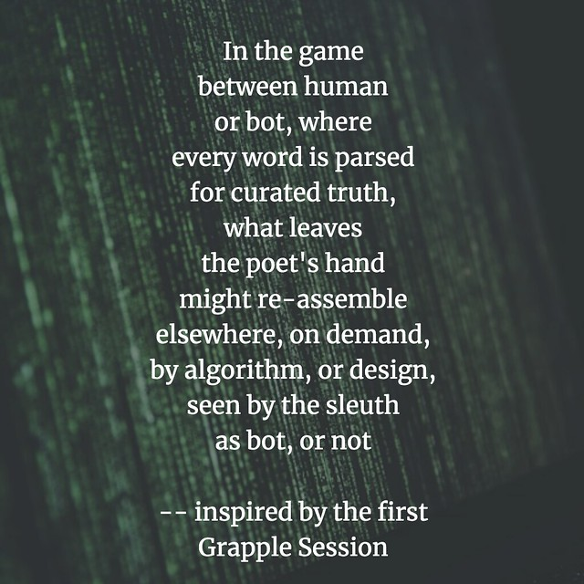Grapple Session One poem