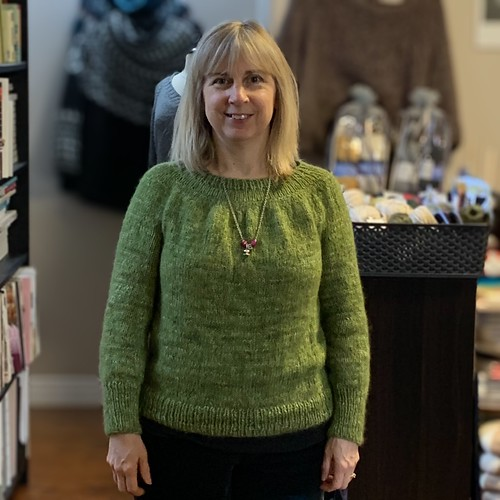 Rita finished this lovely sweater!
