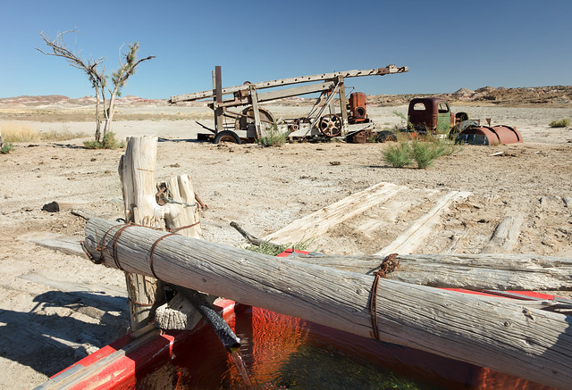Abandoned Drill Rig and Truck