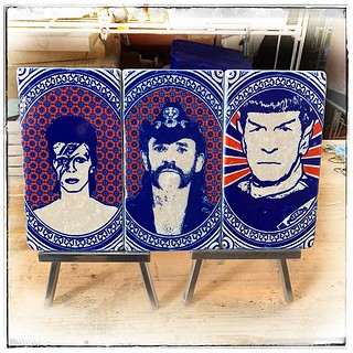 Alter Bekannte kommen wieder #bowie #lemmy #spock #marbleidols #henribanks