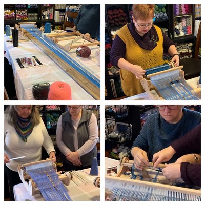 Last Sunday was the third time we have run our Rigid Heddle Weaving Workshop! This group has asked for a follow ship workshop with some more advanced techniques so that is coming soon!