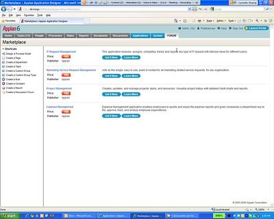 Appian 6 application marketplace