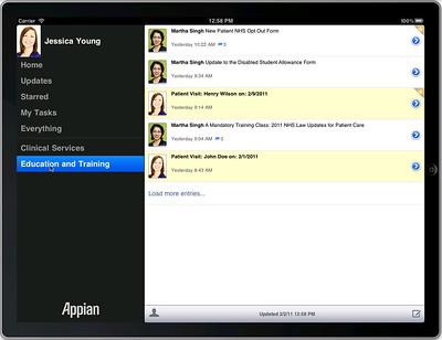 Appian Tempo iPad app