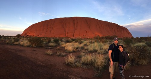Stacey and Mat at Uluru. From For the Love of Aussie Wildlife