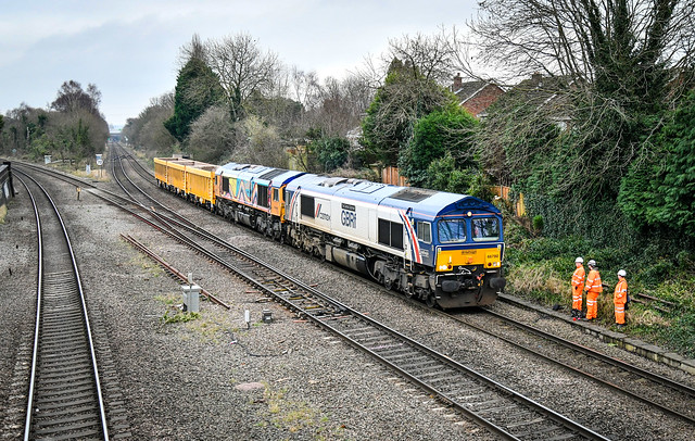 66780 and 66720 at Water Orton