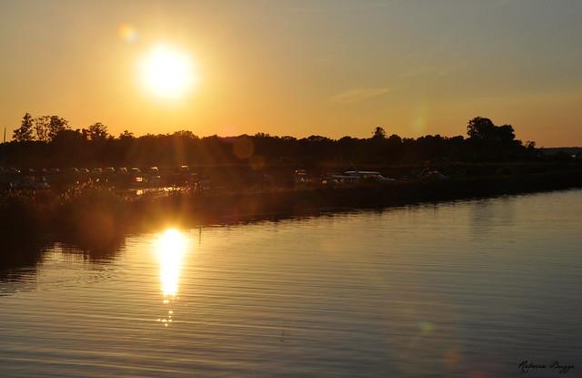 Sunset over Mariestad