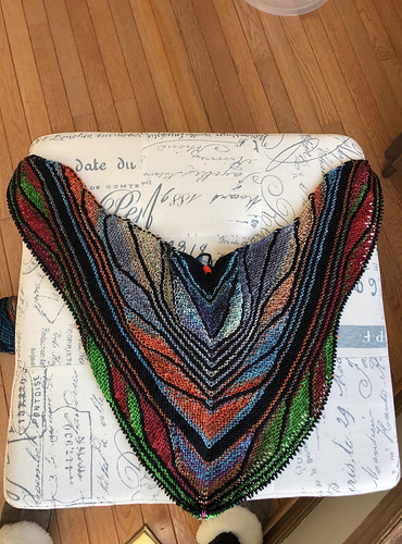Another and yet not current progress on Jean's Papillon Shawl!