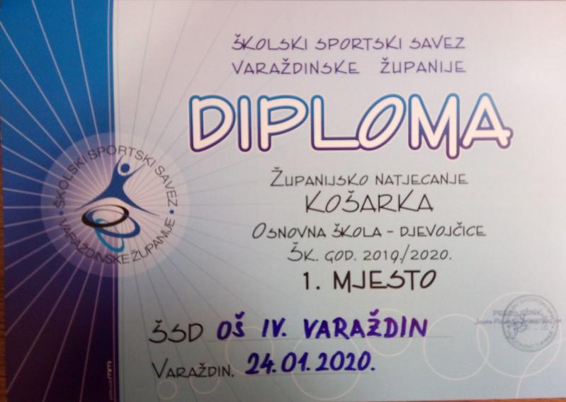 košarka 2020 diploma
