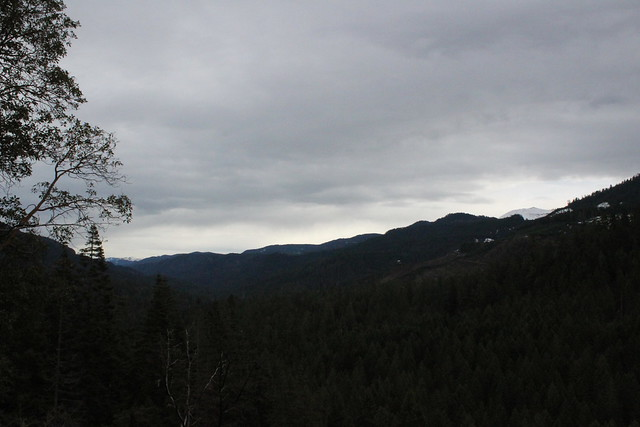 Stormy clouds hang over the valley