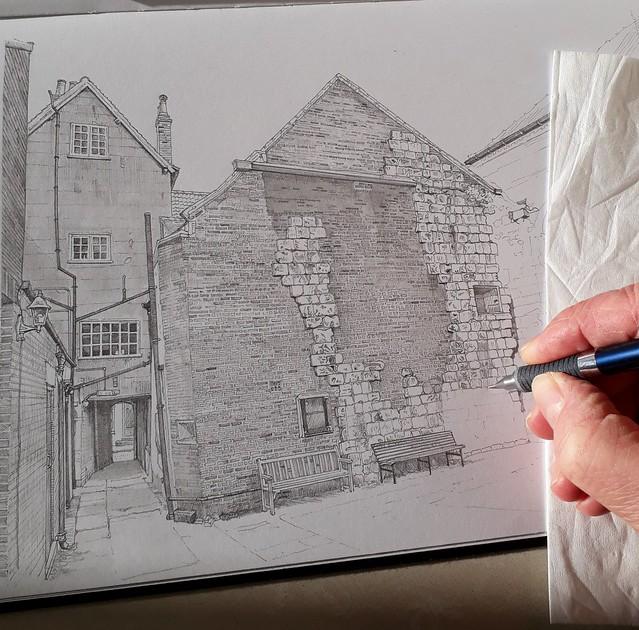 An alleyway in York (WiP 4)