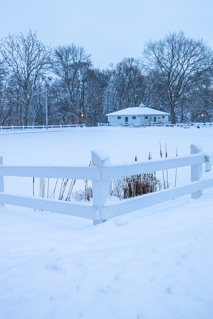 White Fence Snow 2 (Lake Park Lawn Bowling Field)