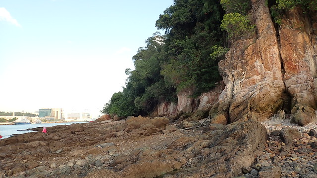 Rocky shores and cliffs on Sentosa Tg. Rimau