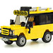 Yellow Land Rover