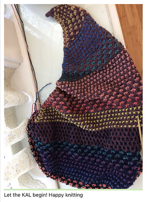 Kathy's Nightshift Shawl for our Nightshift KAL!