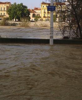 Perpignan express way flooding Gloria storm