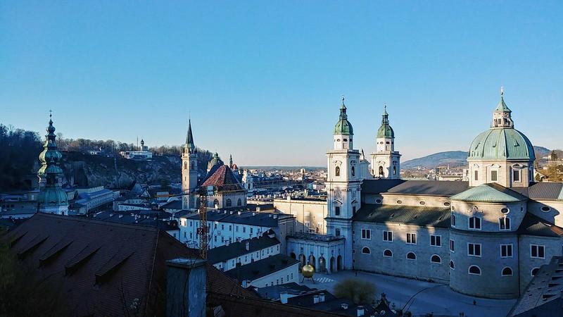 Climbing up Fortress Hohensalzburg