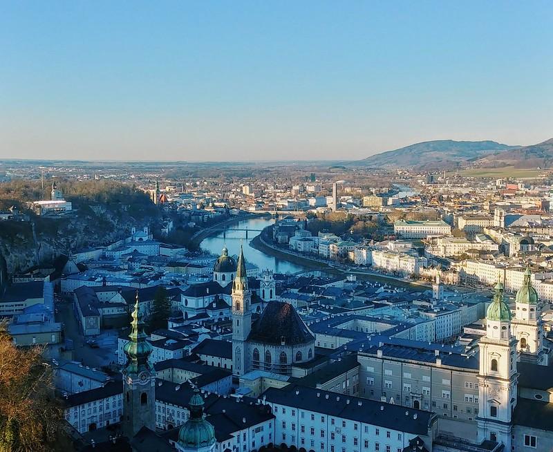 Salzburg from Fortress Hohensalzburg