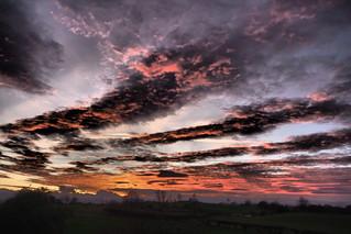 North Yorkshire winter sky....