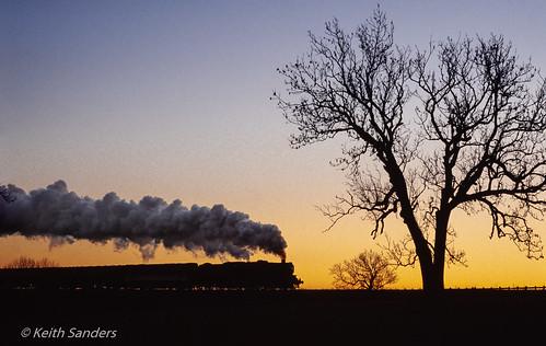 england ukrailways cumbria appleby 45407 settleandcarlisleline sunset afterglow