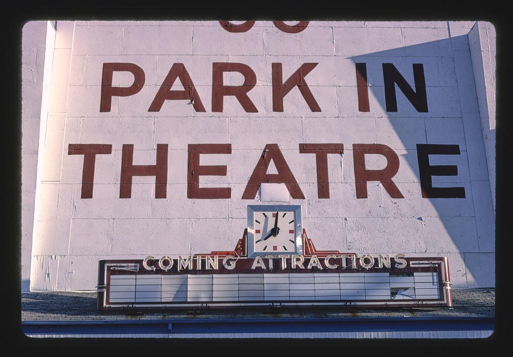 66 Park-in Theater, detail, Route 366, Crestwood, Missouri (LOC)
