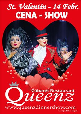 Cena romántica + show + sorpresa Rte Queenz
