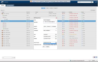 Pega Case Management - add manual case/task