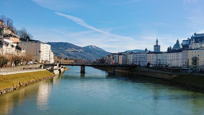 Salzburg from a bridge