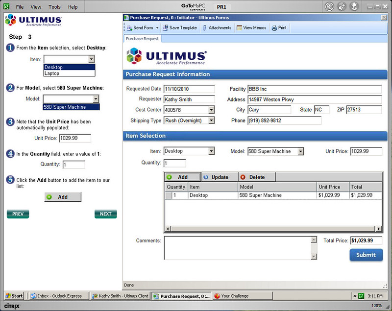 Ultimus test drive