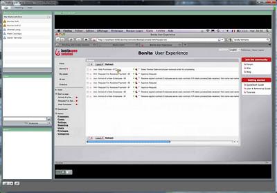 Bonitasoft BPM - user inbox view