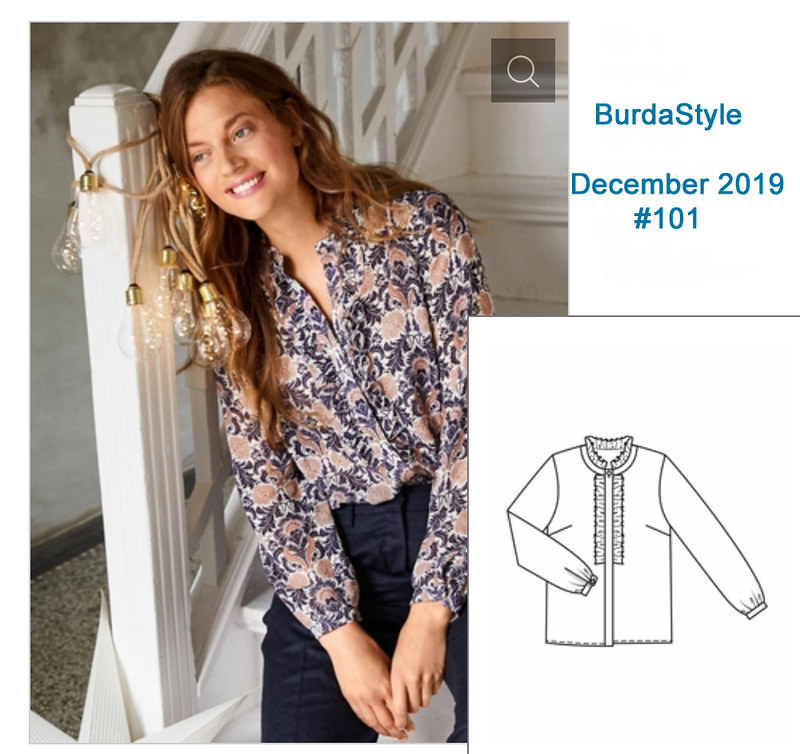 Burda blouse Dec 2019