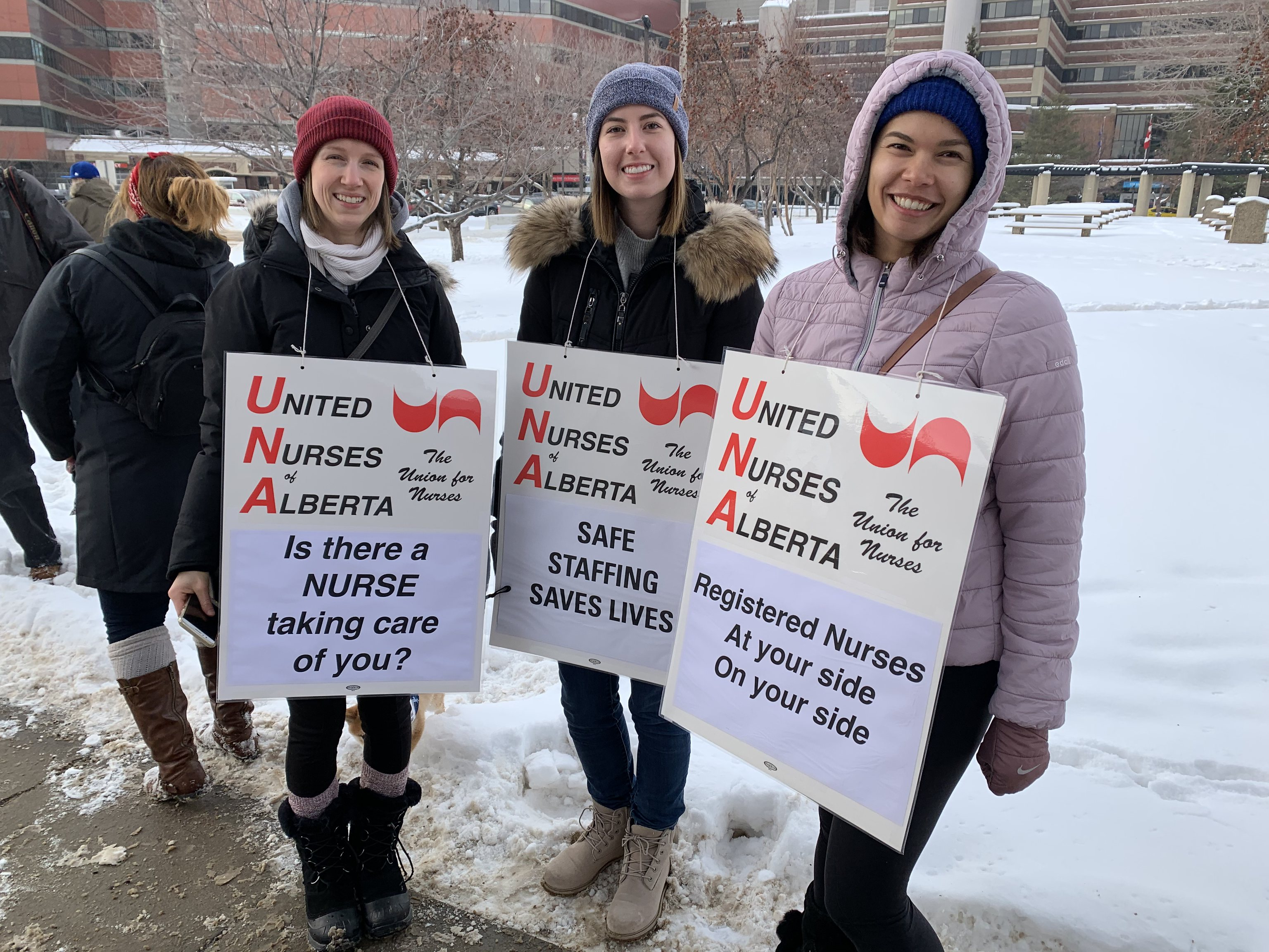 United Nurses of Alberta Rally