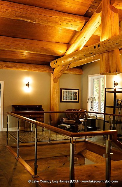 Lake Country Western Red Cedar Post and Beam Log Home - British Columbia 00010
