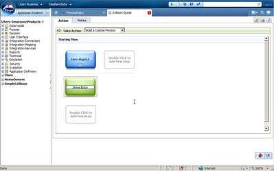 User builds custom subprocess in discovery map view